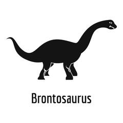 Brontosaurus icon. Simple illustration of brontosaurus vector icon for web.