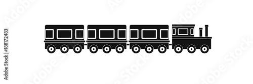 Fototapeta Train icon. Simple illustration of train vector icon for web.