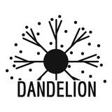 Dandelion logo icon. Simple illustration of dandelion vector icon for web