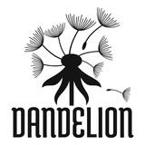 Field dandelion logo icon. Simple illustration of field dandelion vector icon for web.
