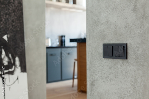 Foto Murales Switch and socket in the kitchen background