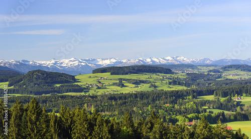 Fridge magnet Naturlandschaft am deutschen Alpenrand bei Lindenberg