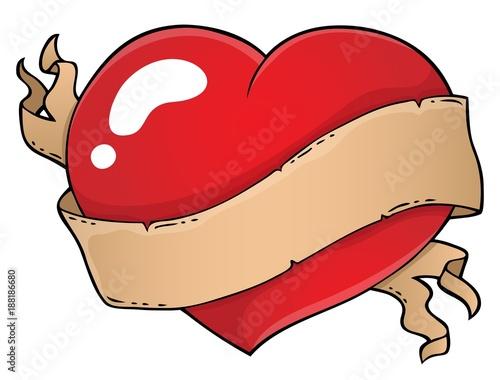 Deurstickers Voor kinderen Valentine heart topic image 2