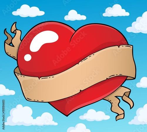 Deurstickers Voor kinderen Valentine heart topic image 3