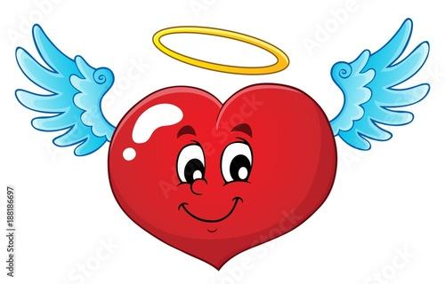 Deurstickers Voor kinderen Valentine heart topic image 4