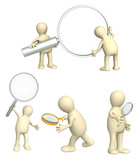 Collections of puppets with magnifier