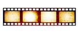 Retro filmstrip with grunge paper texture