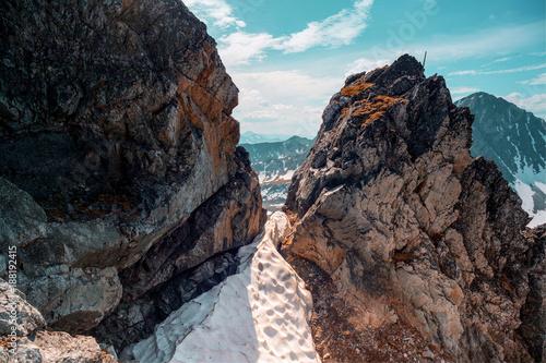 Papiers peints Bleu vert The Urals landscape. The Ural Mountains. Russia landscape.