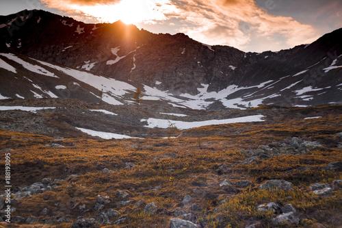Staande foto Diepbruine The Urals landscape. The Ural Mountains. Russia landscape.