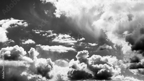 fototapeta na ścianę Himmel Wolkenformation monochrom