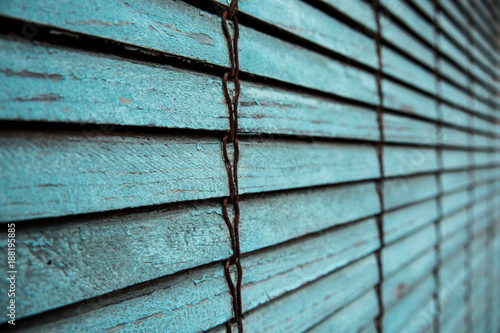 Texture of an old blue blind