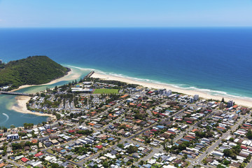 Sunny view of Palm Beach and Tallebudgera Creek on the Gold Coast