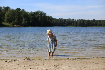Dziewczynka na plaży