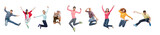 Group Of People Or Teenagers Jumping Wall Sticker