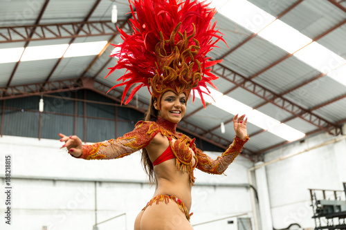 Brazilian Woman Celebrating Carnaval - 188218815
