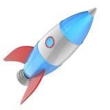 Cartoon rocket - 188223415