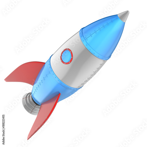 Fototapeta Cartoon rocket