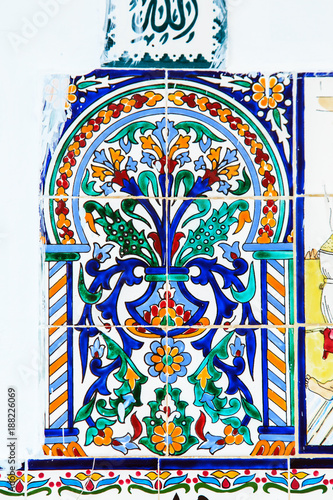 Pattern from colorful Tunisian tiles. - 188226069