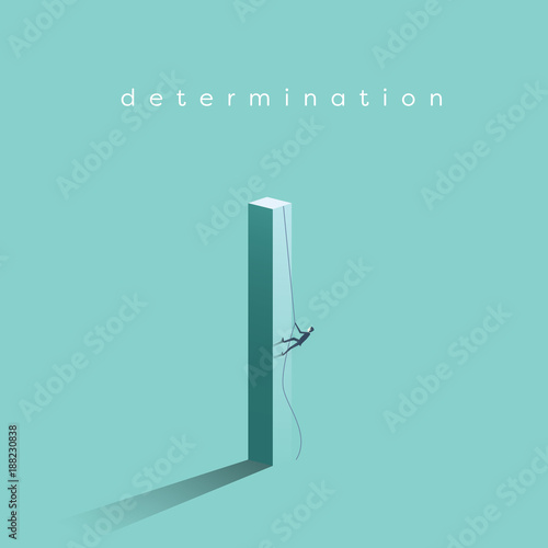 Business Determination And Growth Vector Concept Businessman