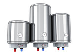 Three water boiler on white background