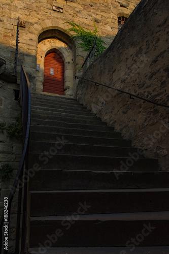 Poster Smal steegje Borgo medievale di Carcassonne, Francia