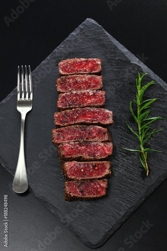 Keuken foto achterwand Steakhouse Wagyu beef steak, Japanese food