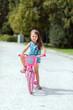 Young girl riding a bike