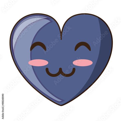 kawaii heart icon - 188268040