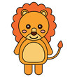 lion cute animal icon image vector illustration design