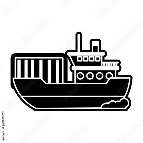 Fototapeta Isolated ship design