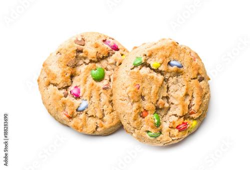 Foto Murales Sweet cookies with colorful candies.