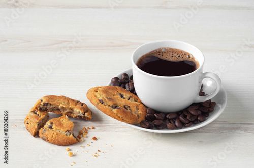 Coffee and chocolate chip cookies