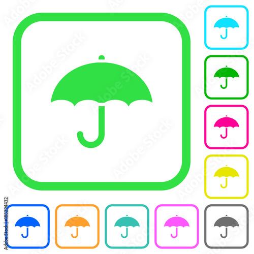 Umbrella vivid colored flat icons