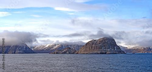Foto Murales Coastal Clouds in the High Arctic