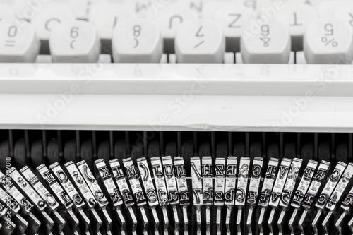keyboard of a typewriter - 188297818