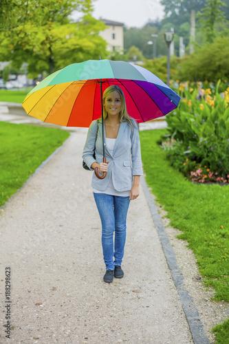 woman with umbrella - 188298623