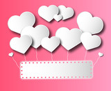 Love card with copy space and hearts - 188299223
