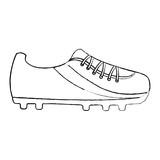 shoe soccer icon equipment play vector illustration - 188302872