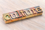 culture word typography in wood type - 188303081