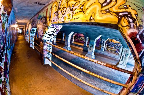 Graffiti in the Krog Street Tunnel in Atlanta - 188304262