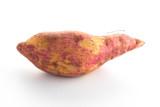 sweet purple potatoes on white - 188304632
