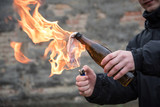 Man attack with molotov cocktail - 188331489