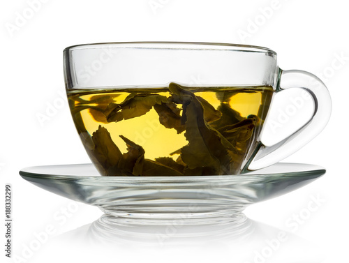 green tea in a transparent cup