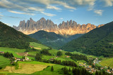 Italy, Dolomites Odle Alps, Funes Valley in spring