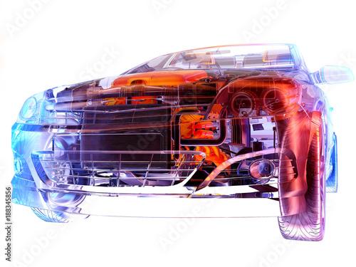 Foto Murales Transparent model cars.