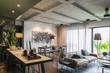 Beautiful contemporary living room home interior.
