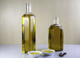 Two bottle olive oil with  peppercorns - 188353028