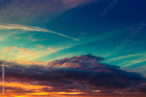 Scenic sunset cloudscape. Nature background