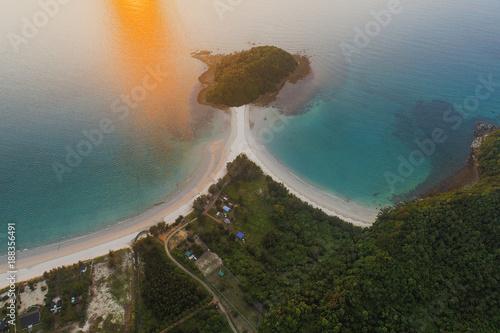 Keuken foto achterwand Natuur Beautiful aerial view of Pantai beach in Kudat, Malaysia