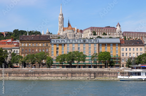 Foto op Canvas Boedapest Budapest city Fisherman towers Danube riverside